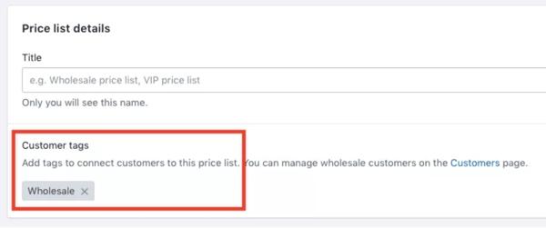 03 shopify plus liste b2b associate ai clienti con tag