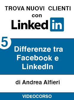 05 differenze Facebook Linkedin