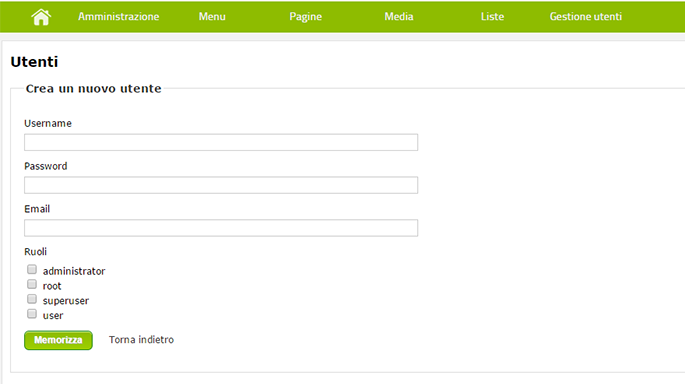 Integrazione con MailChimp
