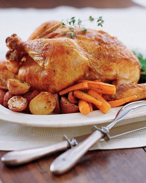 fotografare il cibo pollo arrosto