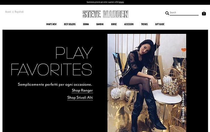 Steve madden italy - sito realizzato con shopify plus