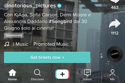 ad notorious pictures su tiktok
