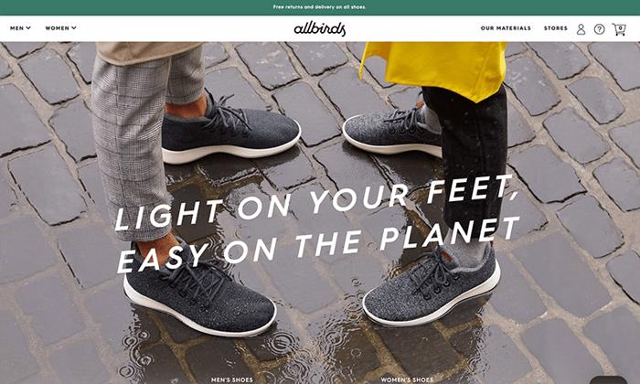 allbirds.co.uk -  sito realizzato con shopify plus