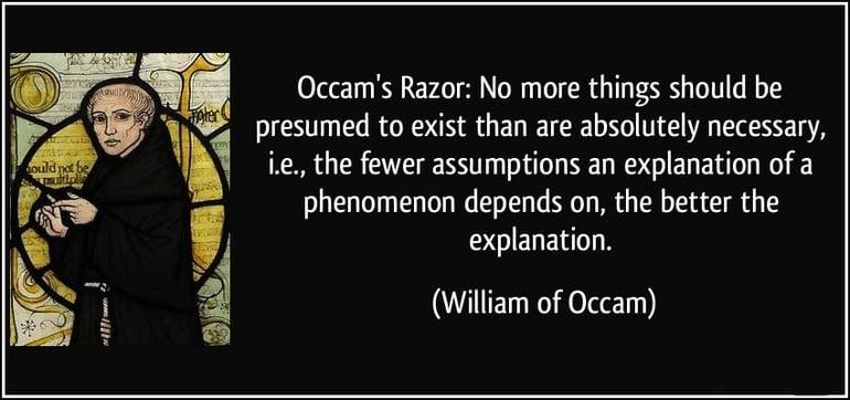 La teoria di occam's razor
