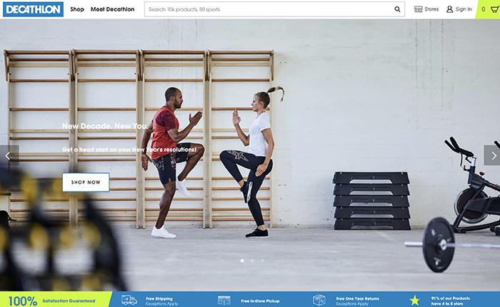 decathlon - sito realizzato con Shopify Plus