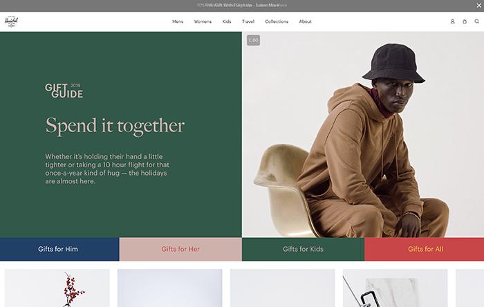 hershel - shopify plus website