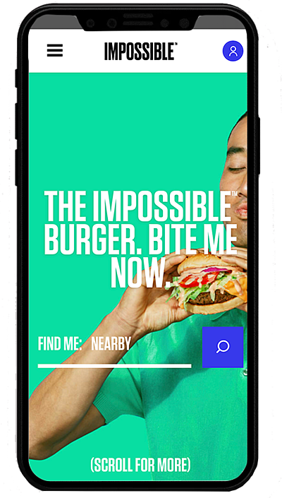 impossiblefood. mobile - realizzato con Shopify plus