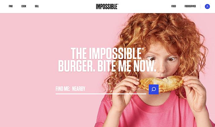 impossiblefood realizzato con shopify plus