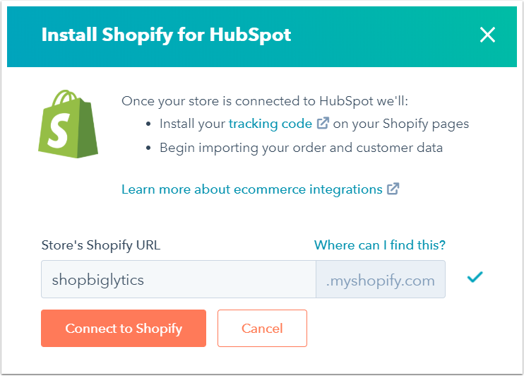 install-shopify-for-hubspot