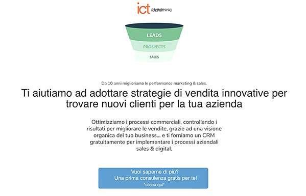 landing strategie vendita