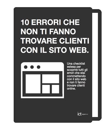 10 errori sito web che non ti fanno trovare clienti online ebook gratis