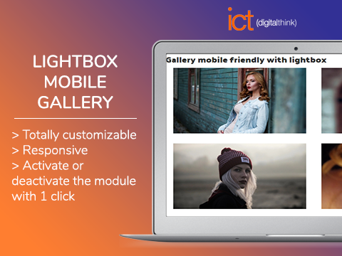 Lightbox mobile gallery