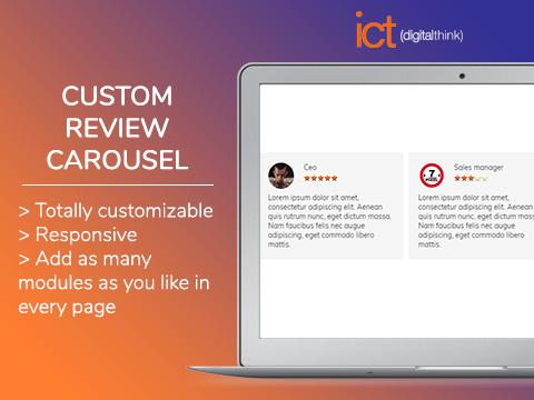 Custom review carousel
