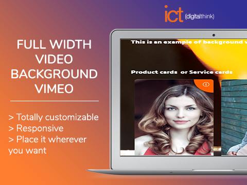 Full width video background - Vimeo