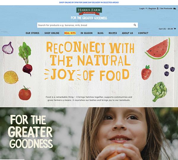 migliori ecommerce shopify: 10 harris farm markets