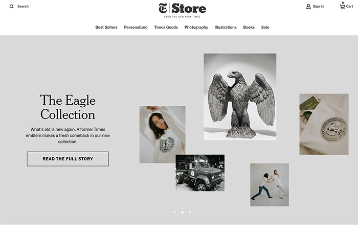 nyt store - shopify plus