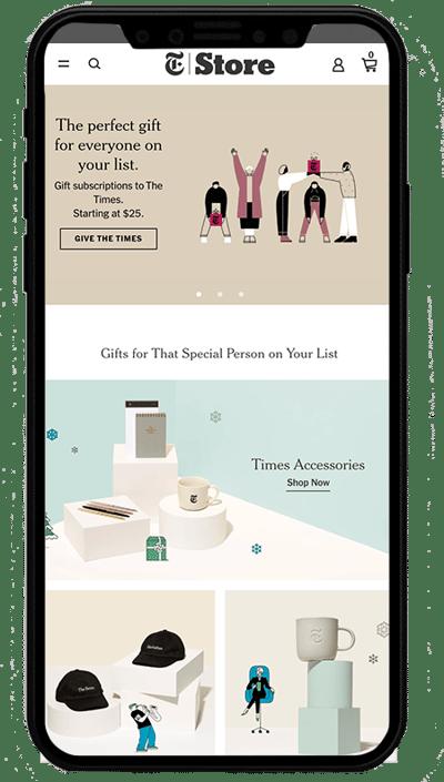 nytimes store - sito realizzato con Shopify plus