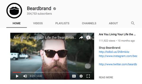 pubblicità e-commerce beardbrand