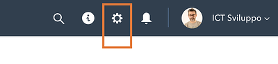 Hubspot setting icon