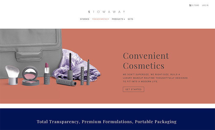 stowaways cosmetics - shopify plus ecommerce