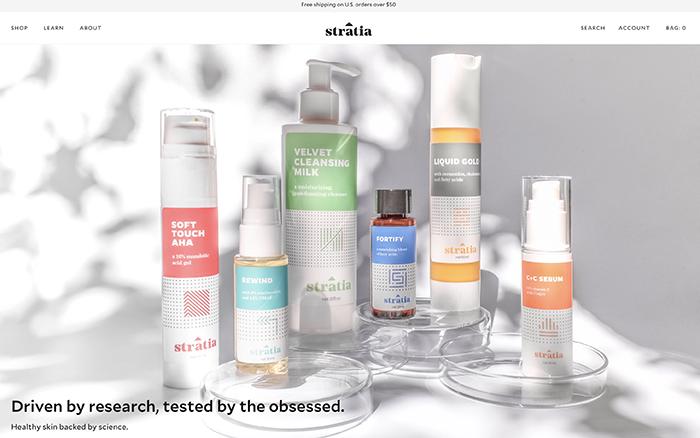 stratia -  sito realizzato con shopify plus