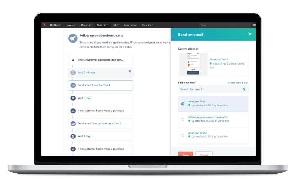 workflow hubspot shopify