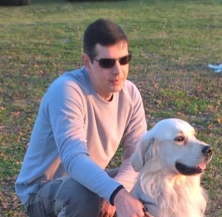 simone corsini con cane